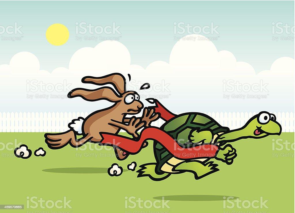 Running Race vector art illustration