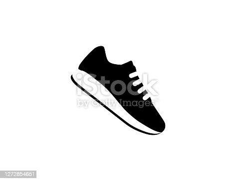istock Running Shoe icon. Isolated sneaker symbol - Vector 1272854651