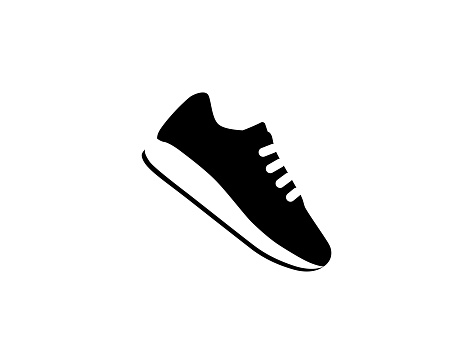 Running Shoe icon. Isolated sneaker symbol - Vector