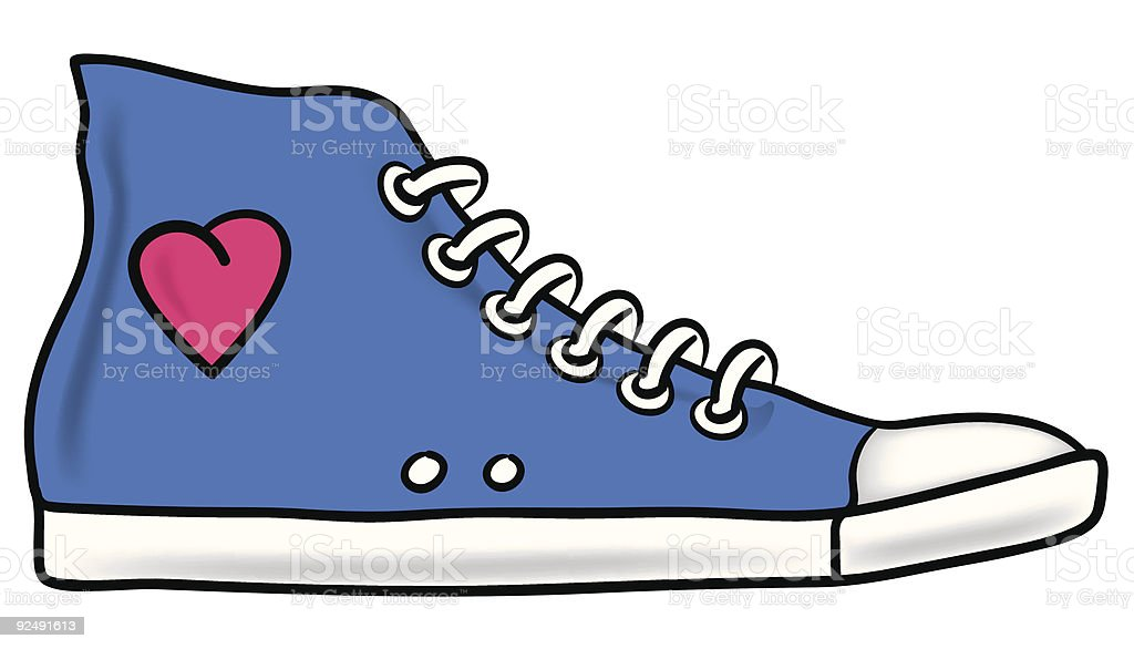 Running shoe royalty-free running shoe stock vector art & more images of blue