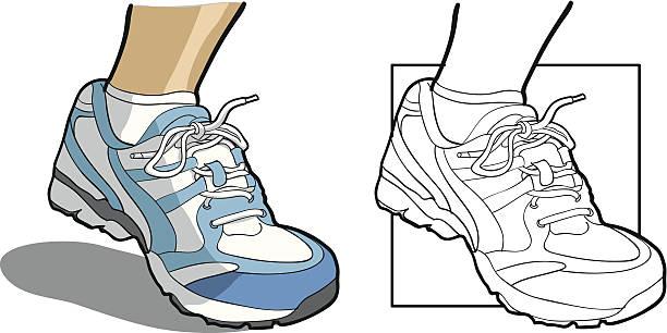 Running Shoe vector art illustration