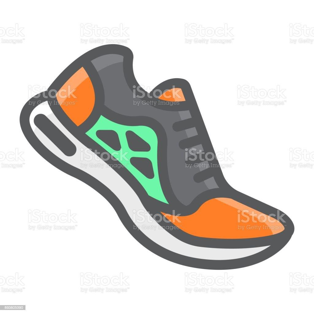 Remplis Contour De Chaussures Icône La Condition Course EnqaxC8R8w