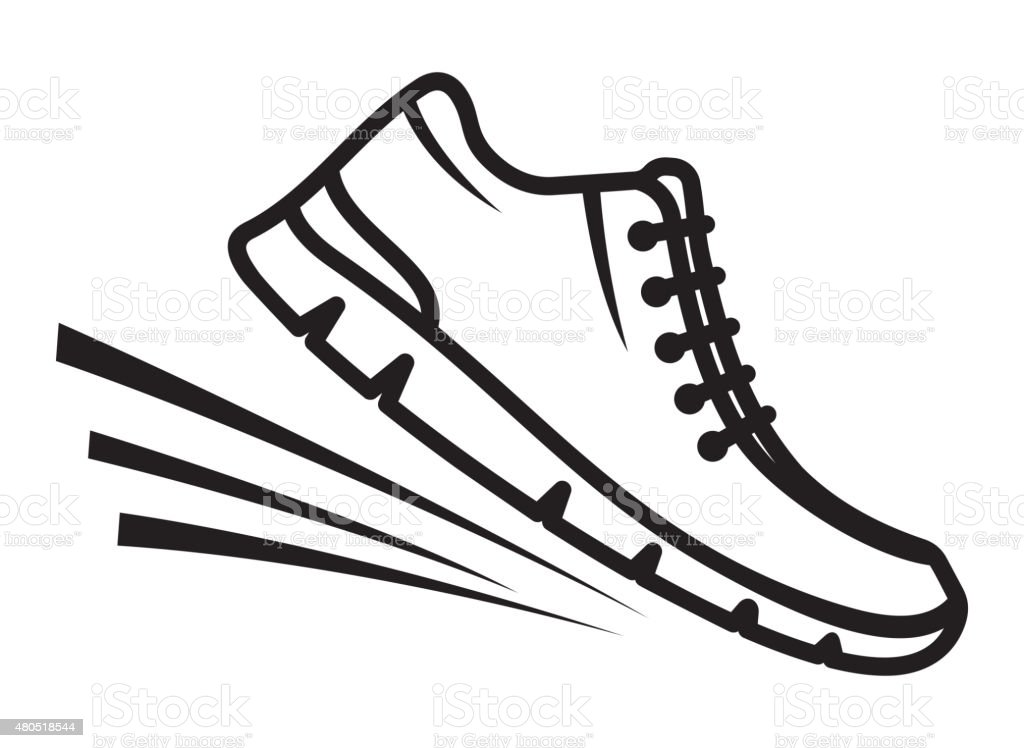 Running Shoes Icon Stock Vector Art Amp More Images Of 2015