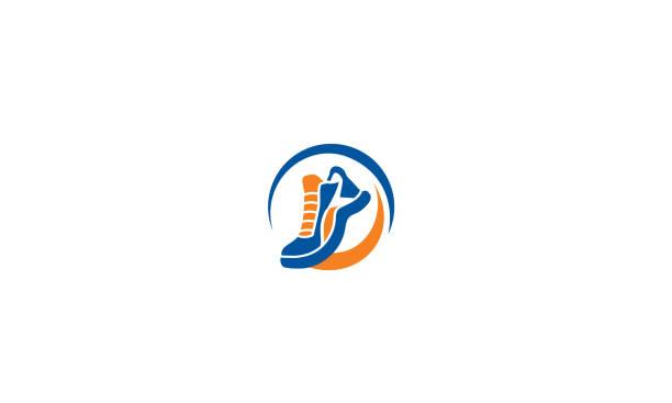 buty do biegania ikona wektor - but sportowy stock illustrations