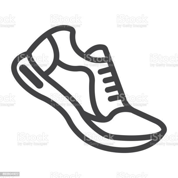 Running shoes line icon fitness and sport gym sign vector graphics a vector id893804922?b=1&k=6&m=893804922&s=612x612&h=vkopwk8ss2mqhxmkxmkzzy iz yhuok dwjv5diewly=