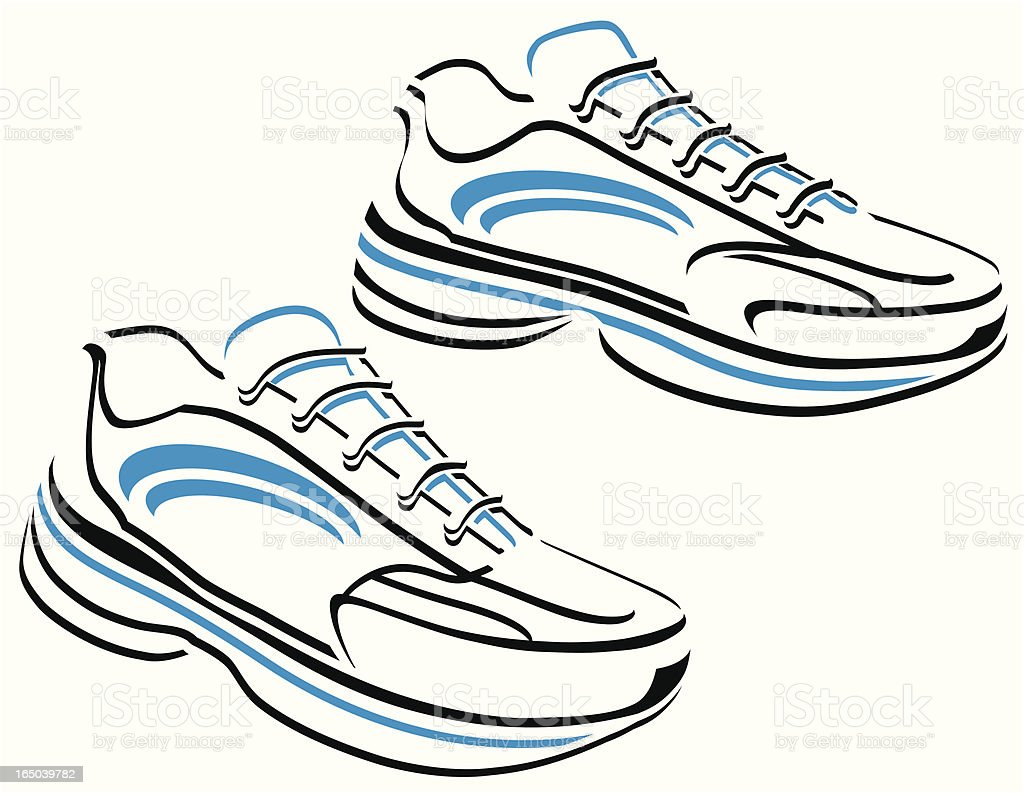 running shoes vector graphic stock vector art more images of rh istockphoto com Vector Graphics Background Vector Clip Art