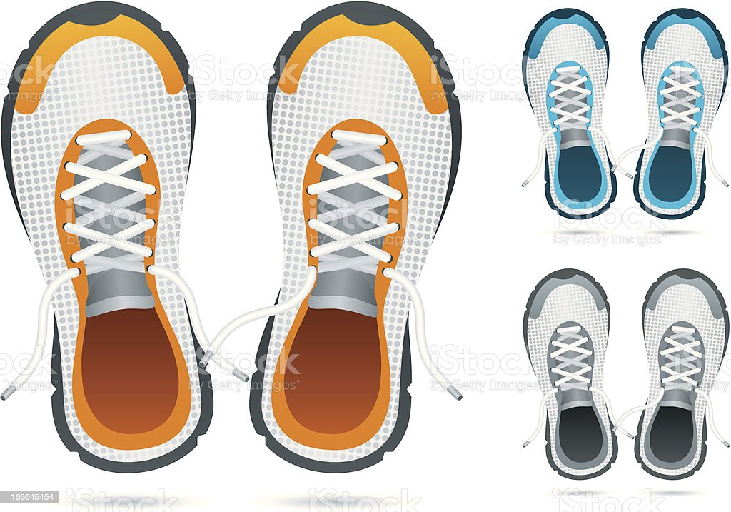 running shoes stock vector art amp more images of blue