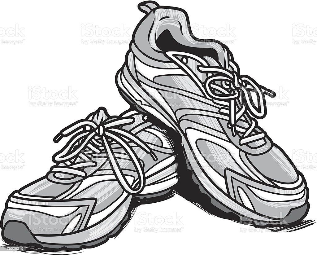 Running Shoes stock vector art 479628215 | iStock