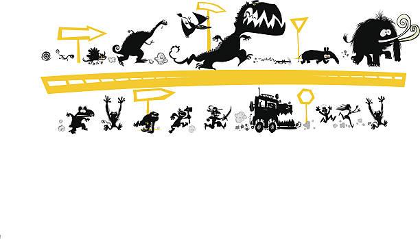 Siluetas de atletismo - ilustración de arte vectorial