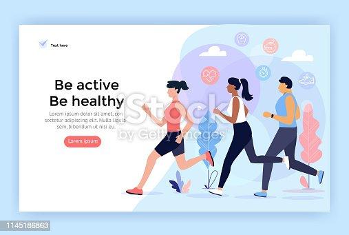 istock Running sport people. 1145186863