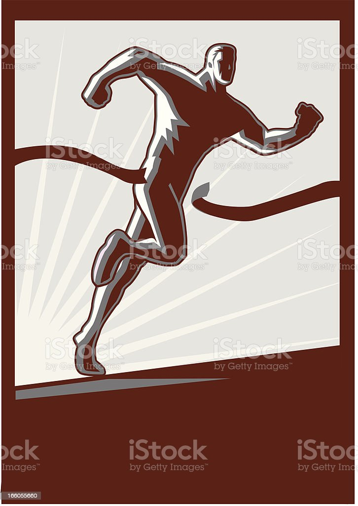 Running Toward Success royalty-free running toward success stock vector art & more images of 1950-1959