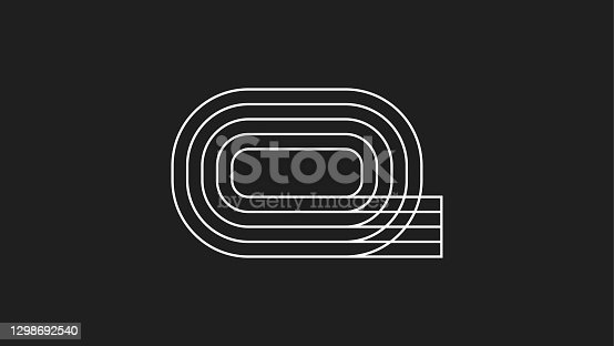 istock Running track icon. Place for sporting events.Vector illustration 1298692540