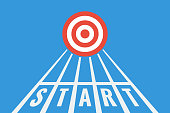 istock running tracks with start line and new target 1287031697