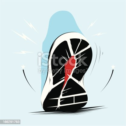 istock Running trainers sole 166291763