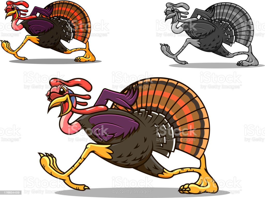Running turkey bird royalty-free running turkey bird stock vector art & more images of animal