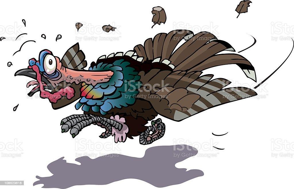 running turkey royalty-free stock vector art