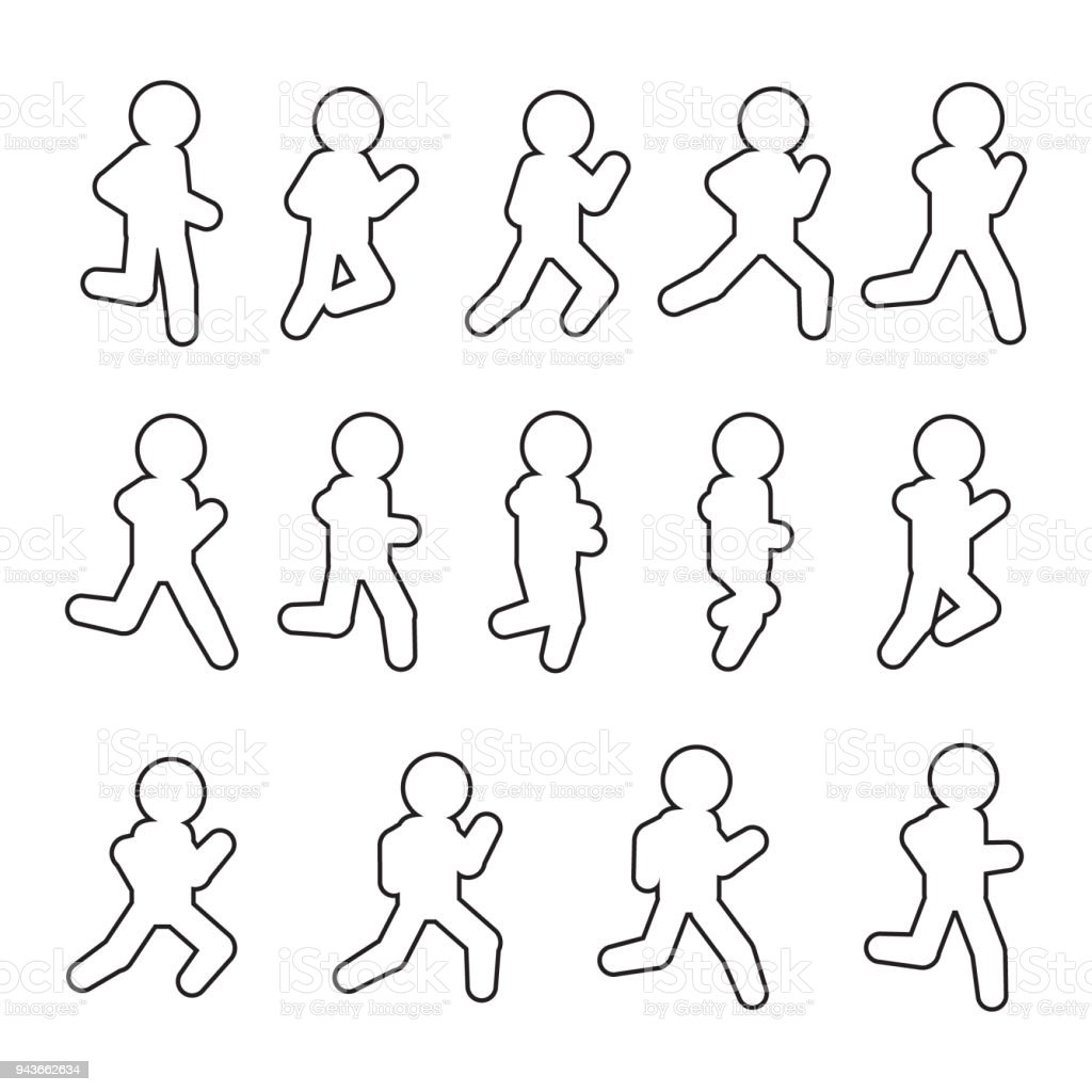 Running Vector Sequence Line Iconset Running Frames Outline Icon Set ...