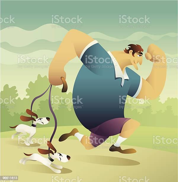 Running With Dogs-vektorgrafik och fler bilder på Aktiv livsstil