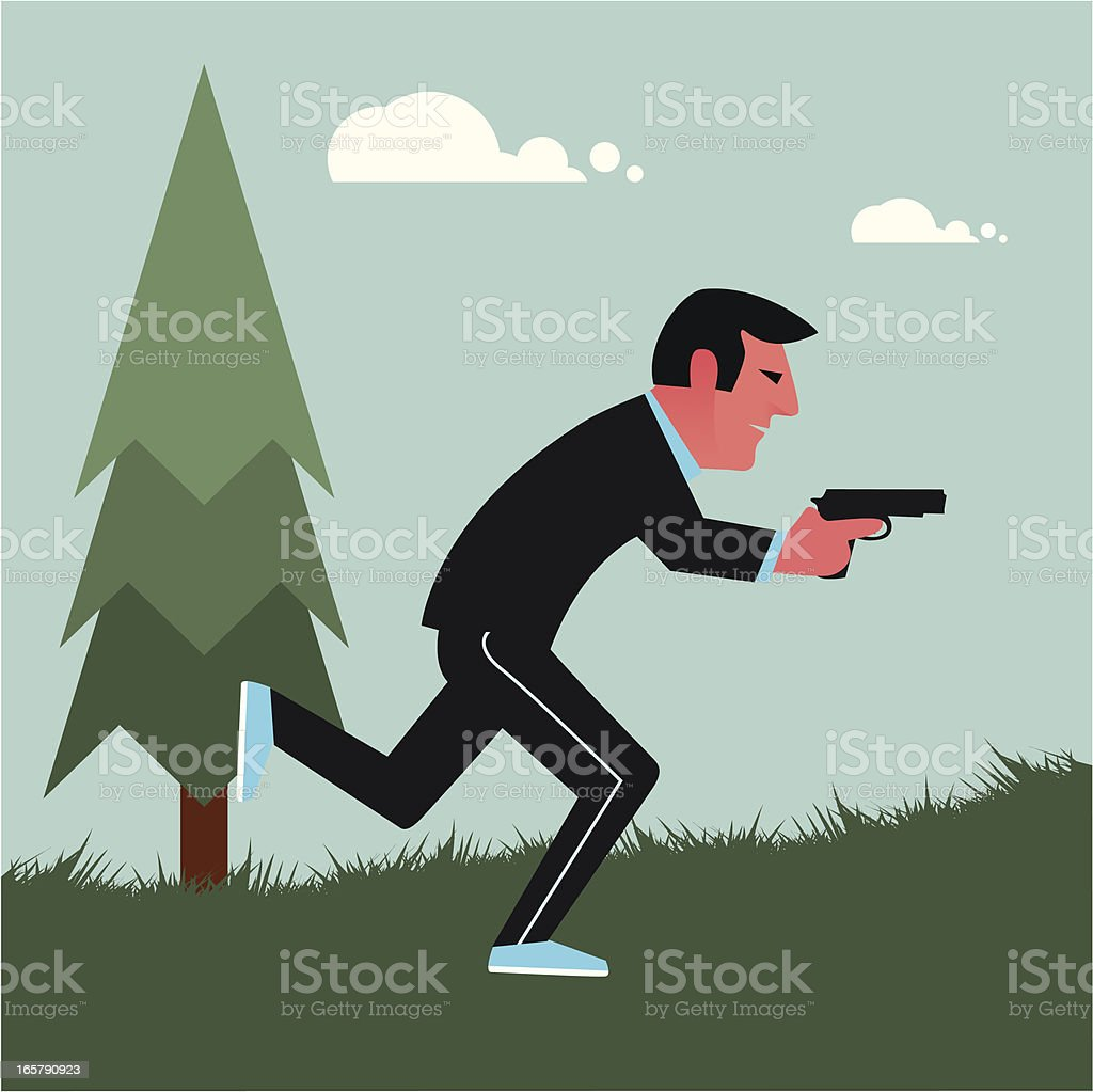 Running with guns royalty-free running with guns stock vector art & more images of beauty