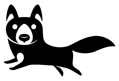running wolf symbol