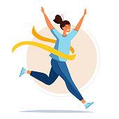 istock Running woman. 1244669138