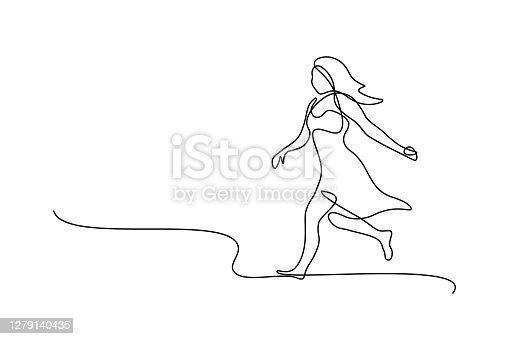 istock Running woman 1279140435