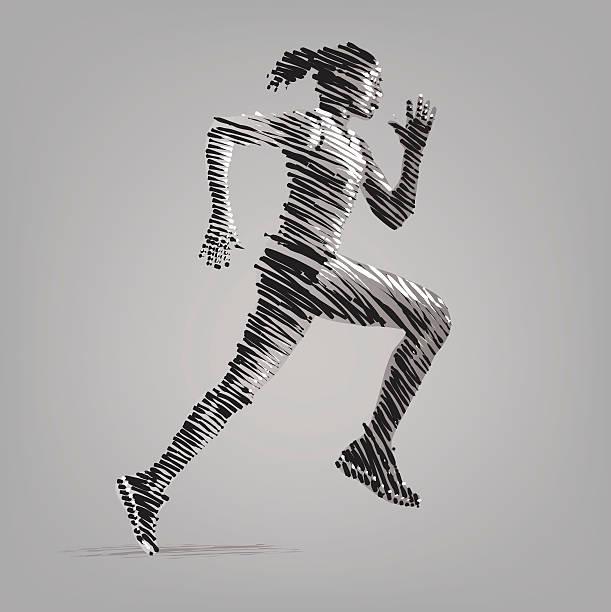 ランニングの女性。 - 陸上競技点のイラスト素材/クリップアート素材/マンガ素材/アイコン素材