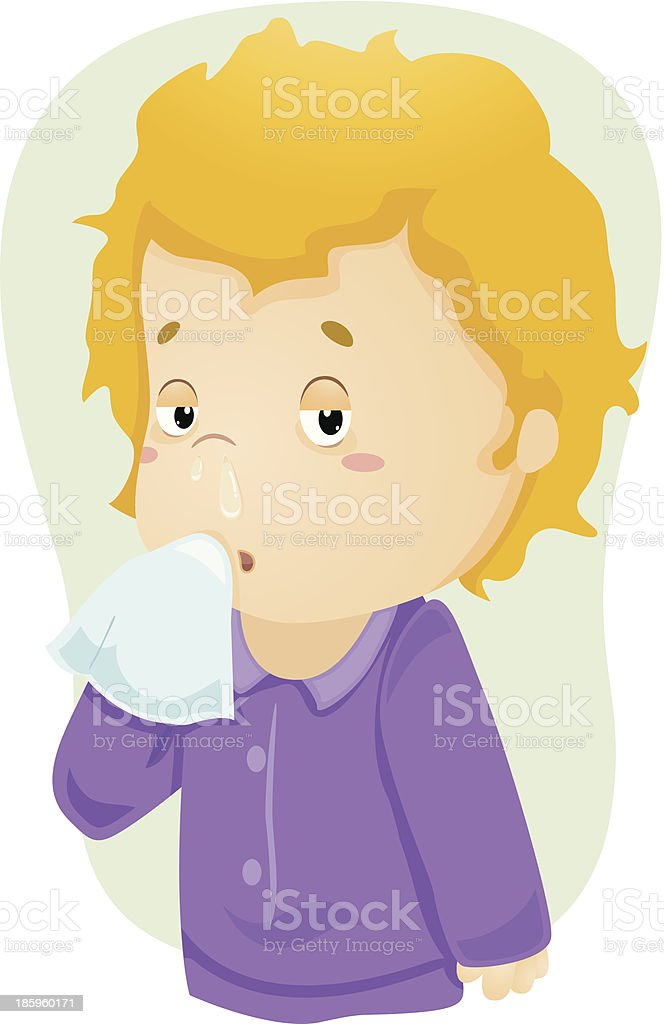 Runny Nose Kid royalty-free runny nose kid stock vector art & more images of allergy