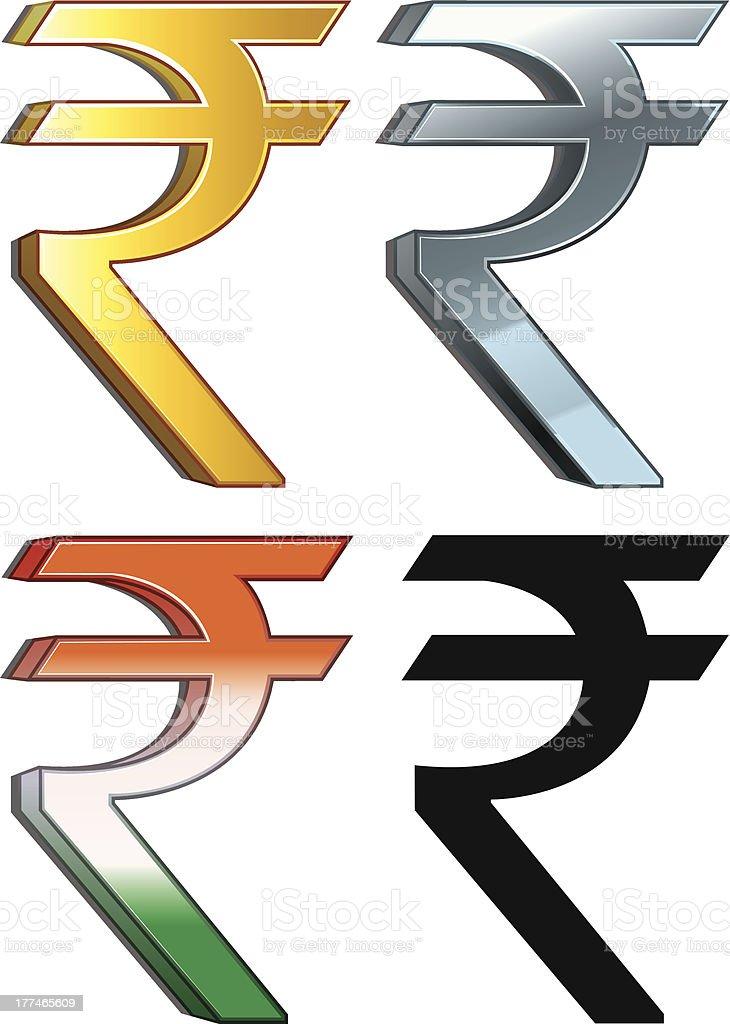 Rupee Sign royalty-free stock vector art
