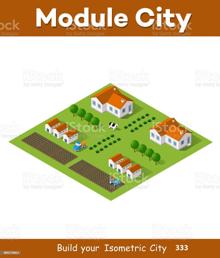 Rural isometric natural royalty-free rural isometric natural stock vector art & more images of agriculture