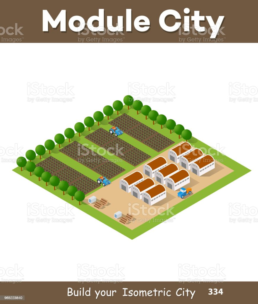 Rural isometric natural royalty-free rural isometric natural stock vector art & more images of agricultural field