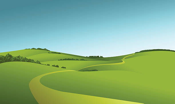 rural landscape - kırsal manzara stock illustrations