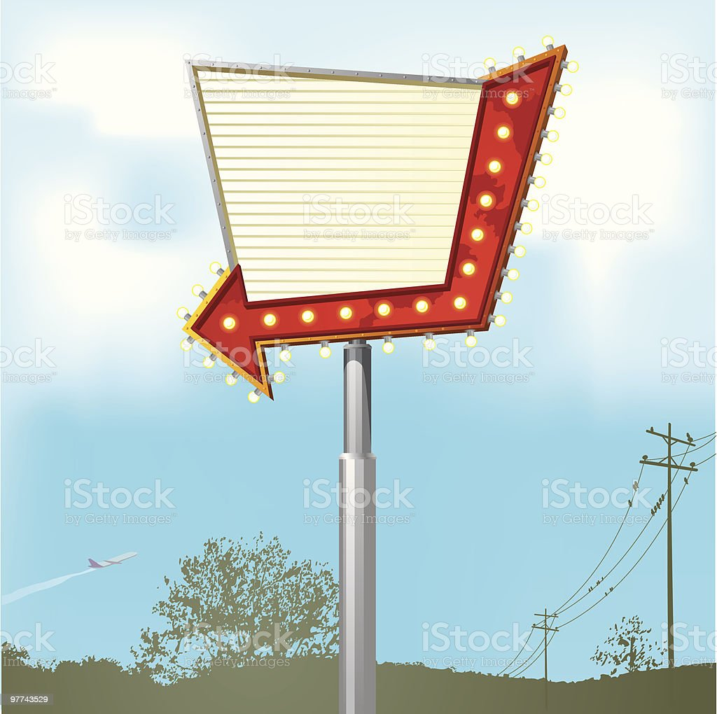 Rural Outdoors - Blank Sign 2 royalty-free stock vector art