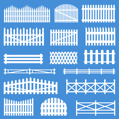 Rural wooden fences