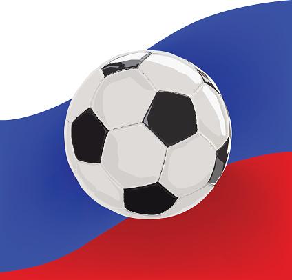 russia 2018 soccer ball vector illustration