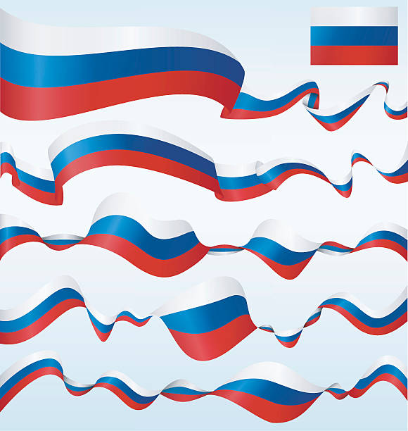 russia - banners - russian flag stock illustrations, clip art, cartoons, & icons