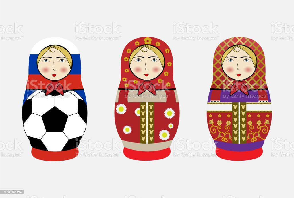 Russia Dolls Or Matryoshka Symbol Of Russia Stock Vector Art More