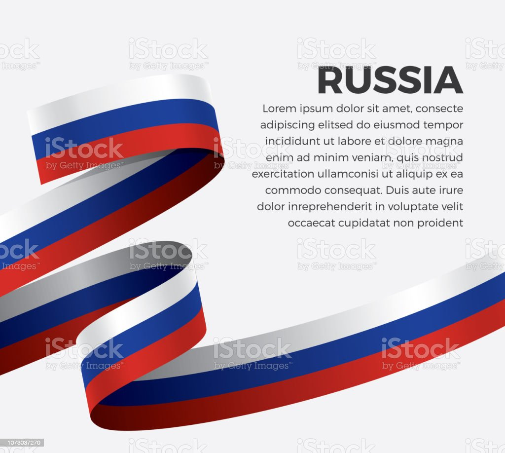 Fond de drapeau de la Russie - Illustration vectorielle