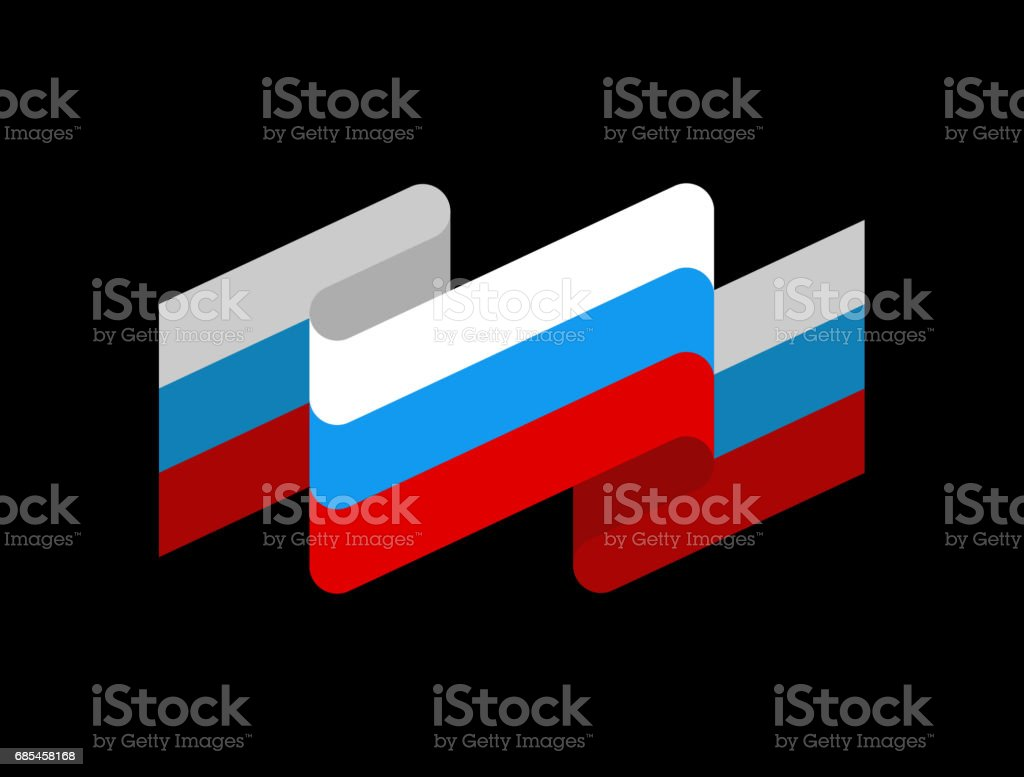 Russia flag ribbon isolated. Russian tape banner. state symbol russia flag ribbon isolated russian tape banner state symbol - arte vetorial de stock e mais imagens de azul royalty-free