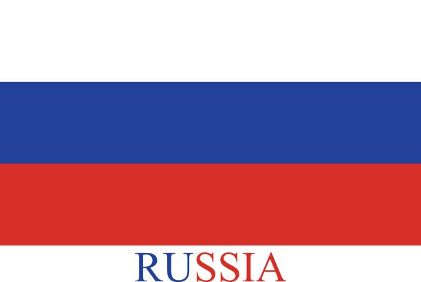 russia flag vector background in an abstract illustration design - russian flag stock illustrations, clip art, cartoons, & icons