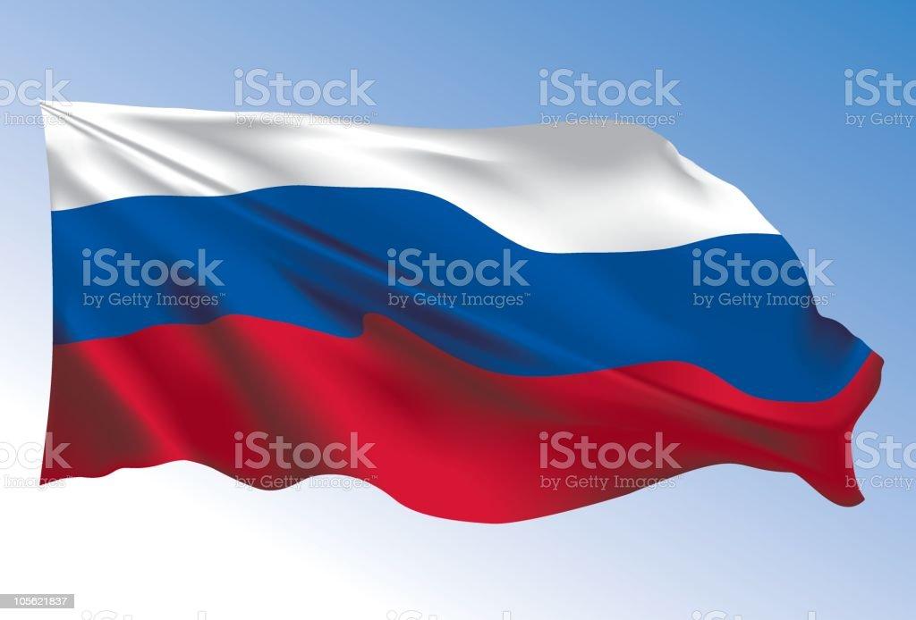 Russia flag vector art illustration