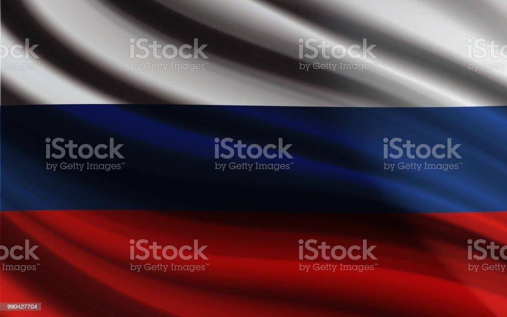 Russland-Fahnenschwingen Vektor entwerfen realistischen Wirkung – Vektorgrafik