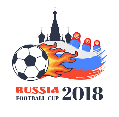 Russia Football Cup 2018 Colorful Vector Banner