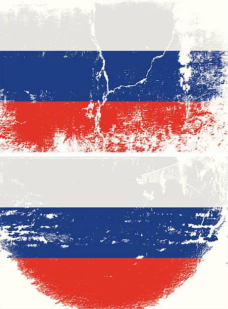 illustrations, cliparts, dessins animés et icônes de drapeau de grunge de russie - drapeau russe