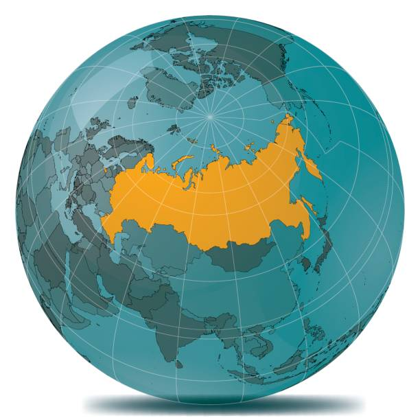 ilustraciones, imágenes clip art, dibujos animados e iconos de stock de rusia destaca planeta tierra - rusia