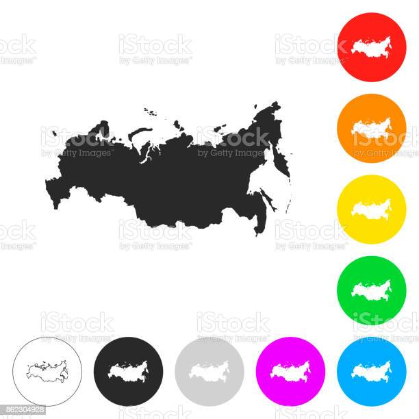 Russia map flat icons on different color buttons vector id862304928?b=1&k=6&m=862304928&s=612x612&h=amzcyfydae085xawmxibqs5mdpuwn4a3vsse cqcxnk=