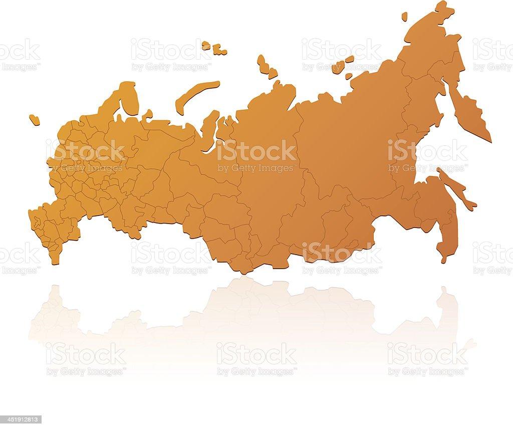 Russia map orange royalty-free stock vector art