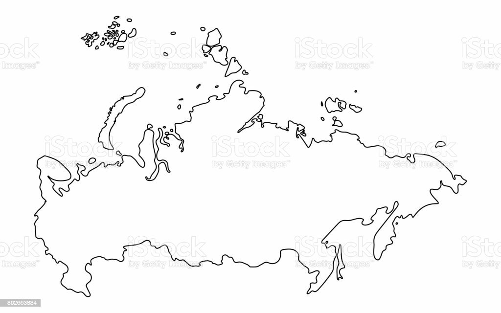 Russia map outline graphic freehand drawing on white background. Vector illustration royalty-free russia map outline graphic freehand drawing on white background vector illustration stock vector art & more images of art