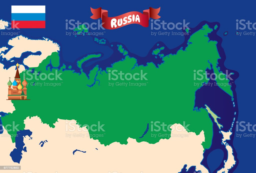 Novgorod Russia Map.Russia Map Stock Vector Art More Images Of Banner Sign 977752850