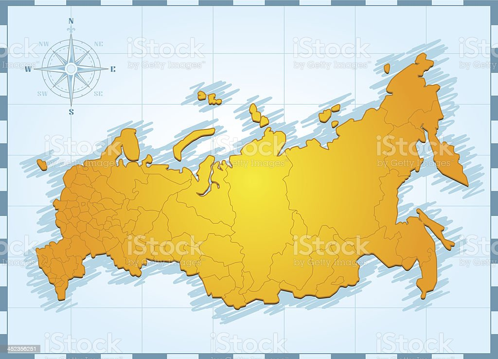 russia map with compass rose stock vector art & more images of beige